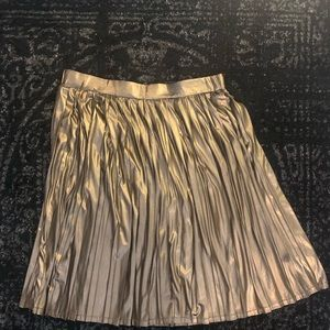 Size 20 Eloquii Metallic Swing Skirt